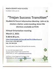 8th Grade Transition Virtual Orientation Meeting
